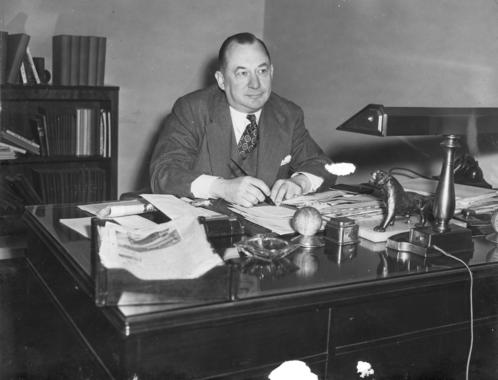 George Weiss at his desk - BL-4104-2000-28 (National Baseball Hall of Fame Library)