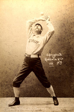 Posed action of Detroit's Deacon White - BL-141-46 (National Baseball Hall of Fame Library)
