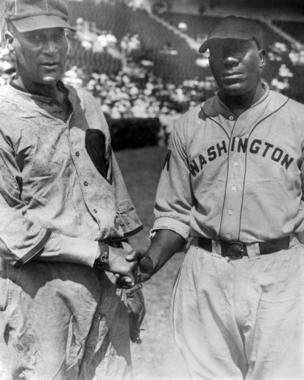 Smokey Joe' Williams (L) with 'Cannonball' Dick Redding, both of the Negro Leagues - BL-2277-73 (National Baseball Hall of Fame Library)