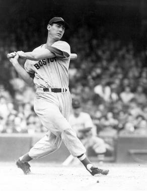 Ted Williams of the Boston Red Sox - BL-3877-84 (National Baseball Hall of Fame Library)