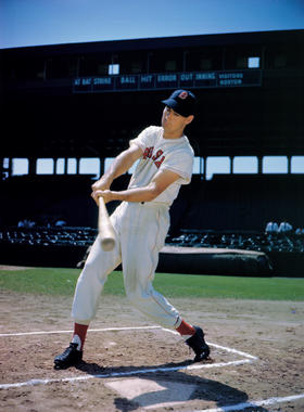 Ted Williams of the Boston Red Sox, at Fenway Park, 1946 - BL-68-57 (National Baseball Hall of Fame Library)