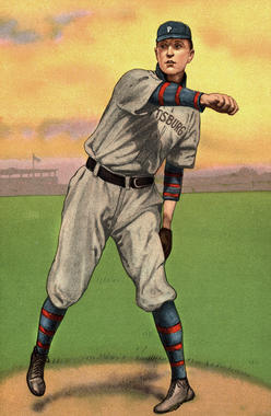 Turkey Red card for Vic Willis - BL-470-54 (National Baseball Hall of Fame Library)