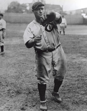 Lewis Wilson of the Chicago Cubs throwing the ball - BL-4633-96 (National Baseball Hall of Fame Library)