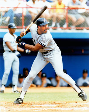 Dave Winfield of the New York Yankees batting, c. 1981-1988 - BL-1636-89 (Photo File/National Baseball Hall of Fame Library)