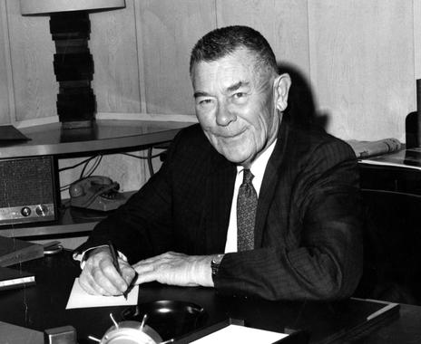 Boston Red Sox owner Tom Yawkey in his office - BL-750-80 (National Baseball Hall of Fame Library)