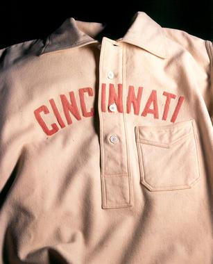 Cincinnati uniform shirt worn by Buck Ewing, c. 1895-1899 - B-9-42 (Milo Stewart Jr./National Baseball Hall of Fame Library)