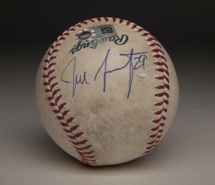 Game ball signed by White Sox starter Jeff Samardzija (Milo Stewart Jr. / National Baseball Hall of Fame and Museum)