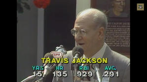 Travis Jackson 1982 Hall of Fame Induction Speech