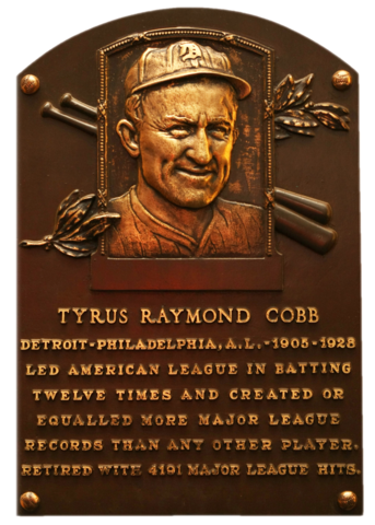 1936 : Ty Cobb One of First Players Elected to Baseball's Hall of Fame