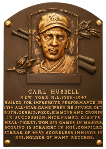 1928 CARL HUBBELL HALL OF FAME GREAT GIANTS IN THIS CLASSIC 8 x10 PORTRAIT