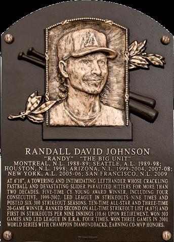 randy johnson hall of fame placa arizona diamondbacks historia de la franquicia equipos mlb