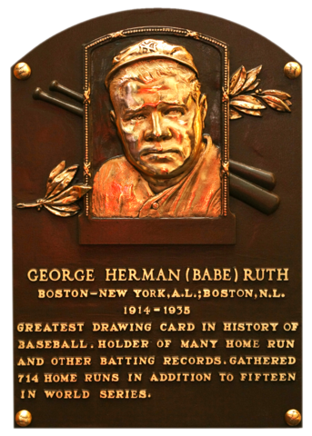 Image result for babe ruth hall of fame