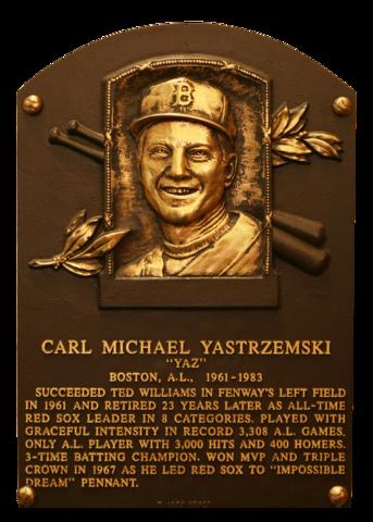 Yastrzemski Carl Baseball Hall Of Fame