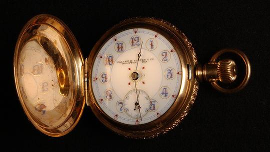 Pocket watch given to Jimmy Slagle of the 1896 Houston Baseball Club. B-181.58 (Milo Stewart, Jr. / National Baseball Hall of Fame)