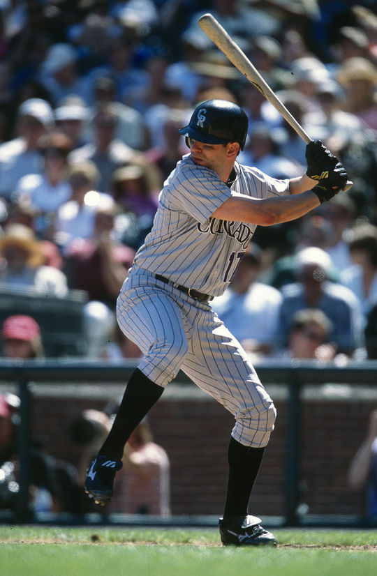 In 17 big league seasons with the Rockies, Todd Helton was named to five All-Star Games and compiled a .316 batting average. (Brad Mangin/National Baseball Hall of Fame and Museum)