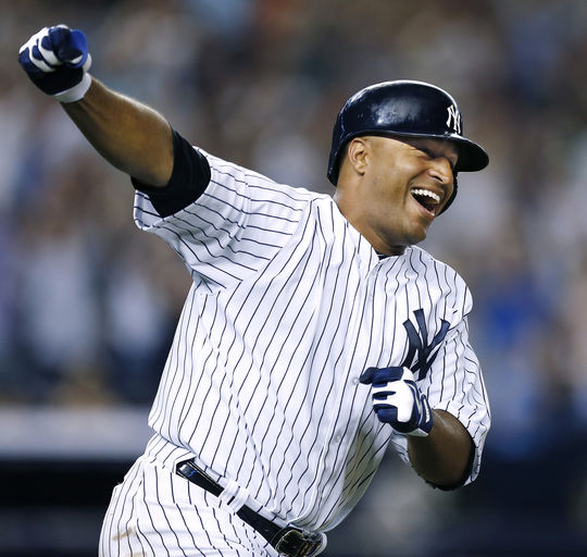 Vernon Wells was a three-time All-Star and three-time Gold Glove Award winner in 15 seasons with the Blue Jays, Angels and Yankees. (New York Yankees/National Baseball Hall of Fame and Museum)