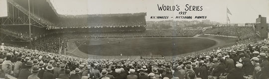 Babe Ruth hit 60 home runs in 1927, then led the  Yankees to a sweep of the Pirates in the World Series. (National Baseball Hall of Fame)