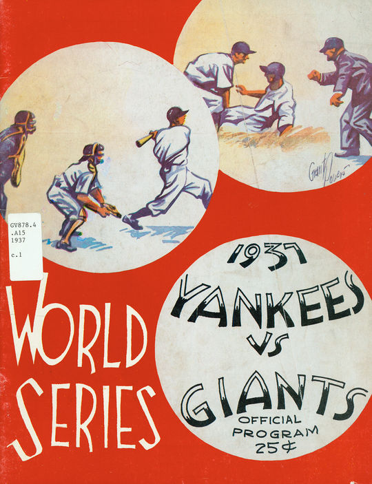 This program is from the 1937 World Series, the first World Series that National League umpire Bill Stewart officiated. It is in the Hall of Fame's collection.  (National Baseball Hall of Fame)