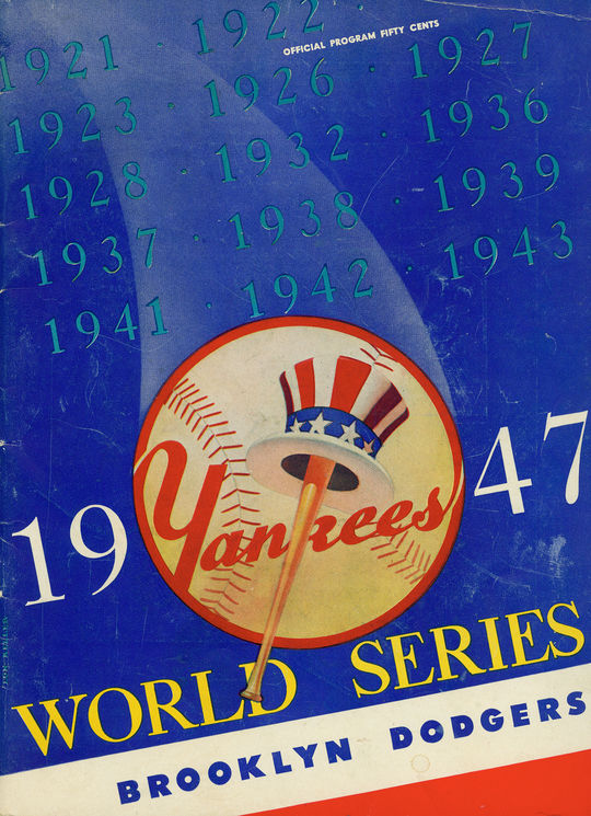 This program from the 1947 World Series, between the Brooklyn Dodgers and the New York Yankees, is in the National Baseball Hall of Fame's collection. (National Baseball Hall of Fame)