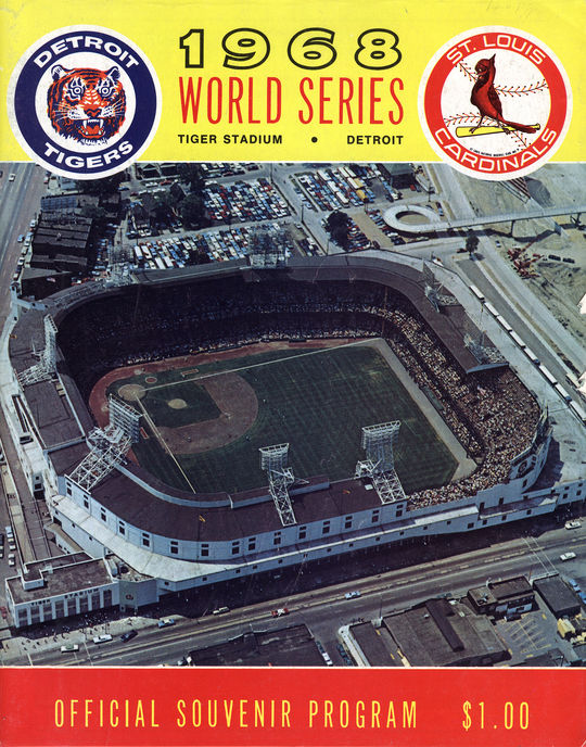 The 1968 World Series was a rematch of the 1934 Fall Classic between the Cardinals and the Tigers. This program is preserved in the Library Archive at the National Baseball Hall of Fame and Museum.