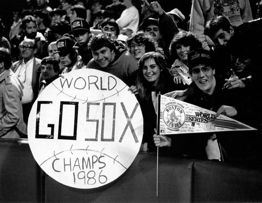The Boston Red Sox seemed to have clinched their first title since 1918 twice during Game 6 of the 1986 World Series. BL-1669-88 (National Baseball Hall of Fame Library)