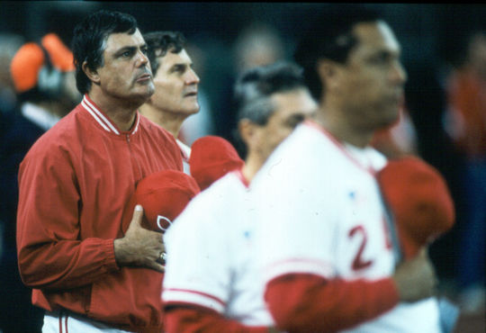 Lou Piniella led the Cincinnati Reds to a World Series win in 1990. (National Baseball Hall of Fame)