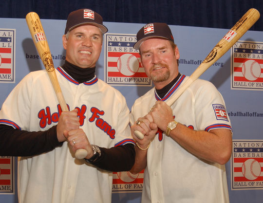 Wade Boggs and Ryne Sandberg both were elected to the National Baseball Hall of Fame in 2005. (Milo Stewart Jr./National Baseball Hall of Fame and Museum)