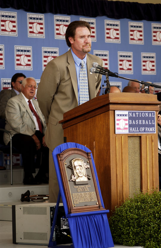 Wade Boggs was inducted into the National Baseball Hall of Fame and Museum on July 31, 2005. (Milo Stewart Jr./National Baseball Hall of Fame and Museum)