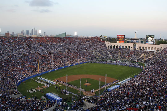 The largest crowd ever to witness a single baseball game appears to be the 115,300 in attendance for a March 29, 2008 exhibition game. (Lisa Blumenfeld/Getty Images)