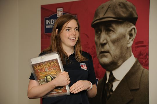 Claire Berge was the 2013 education intern in the Frank and Peggy Steele Internship Program at the National Baseball Hall of Fame and Museum. (Milo Stewart Jr./National Baseball Hall of Fame)