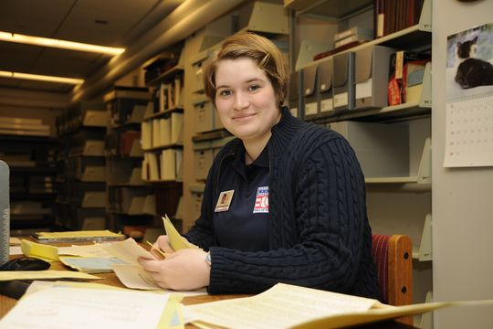 Sarah Harris was a 2014 intern in the Frank and Peggy Steele Internship Program at the National Baseball Hall of Fame and Museum. (Milo Stewart Jr./National Baseball Hall of Fame)