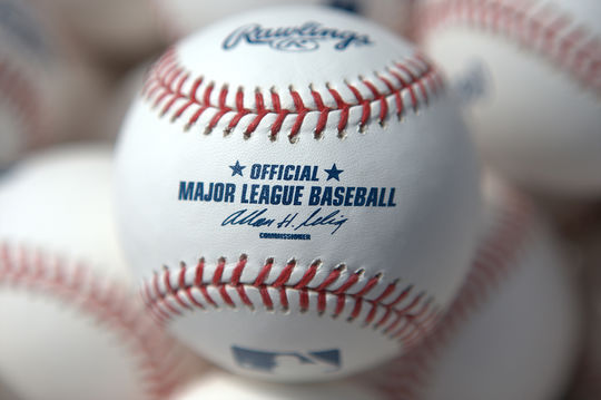 Official MLB baseballs with the signature of then-Commissioner Allan H. Selig. (Brad Mangin / National Baseball Hall of Fame)