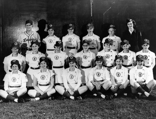 Joyce Steele credits the Kalamazoo Lassies with teaching her the values of teamwork and competitiveness. She played with the team for one year before going on to play softball until 1988. (National Baseball Hall of Fame and Museum)