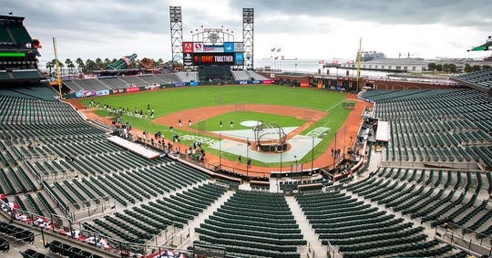 AT&T Park during the 2014 National League Championship Series (Jean Fruth/National Baseball Hall of Fame Library)