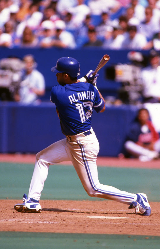 Roberto Alomar was a key part of the Toronto Blue Jays' back-to-back World Series wins in 1992 and 1993. (National Baseball Hall of Fame)