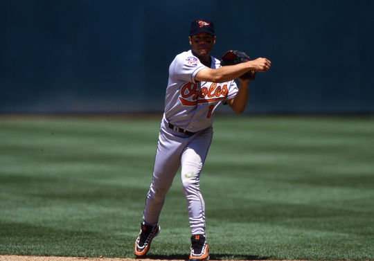 Roberto Alomar played for the Baltimore Orioles from 1996-1998, leading them to two ALCS appearances. (Brad Mangin / National Baseball Hall of Fame)