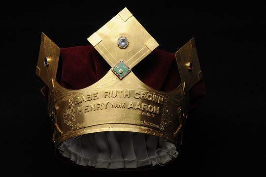 This Babe Ruth Crown was awarded to Hank Aaron for his career hitting achievements by the Maryland Professional Baseball Players Association in 1977. (Milo Stewart Jr. / National Baseball Hall of Fame)
