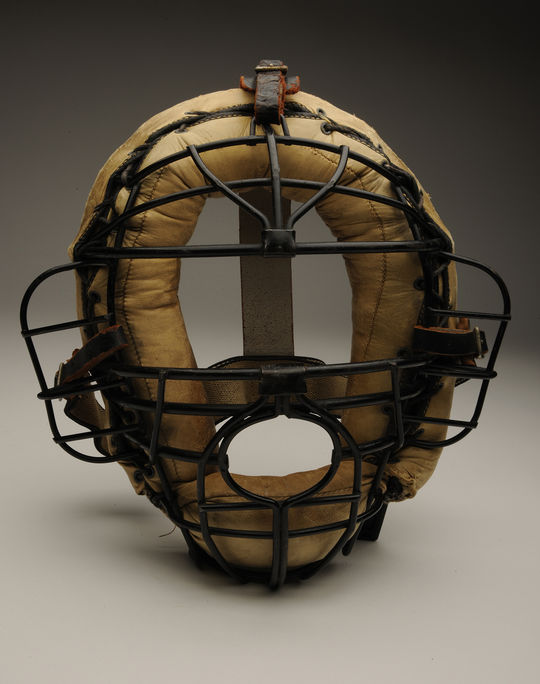 This Spalding catcher's mask was used by Moe Berg in the 1930s, and was donated to the National Baseball Hall of Fame by Moe's brother, Samuel, shortly after his passing. (Milo Stewart Jr. / National Baseball Hall of Fame)