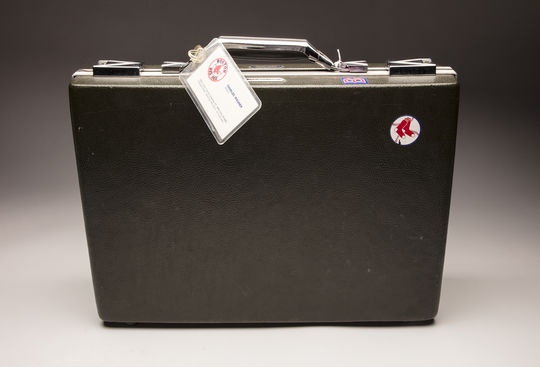 Charlie Wagner carried this briefcase for years as a scout for the Red Sox. The briefcase and its contents - including scouting reports and the tools of the trade for baseball's talent finders - are now part of the collection at the National Baseball Hall of Fame and Museum. (Milo Stewart Jr./National Baseball Hall of Fame and Museum)