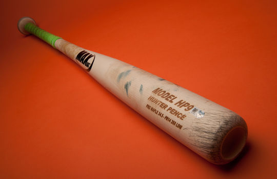 Bat use by Hunter Pence during the 2014 World Series. B-181-2014 (Milo Stewart Jr. / National Baseball Hall of Fame)