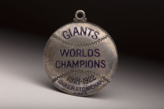 This 1923 New York Giants season pass for the Polo Grounds once belonged to Woodrow Wilson, who served as U.S. president from 1913 to 1921. (Milo Stewart Jr./National Baseball Hall of Fame and Museum)