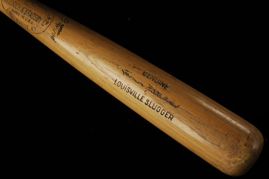 This bat, which Harmon Killebrew used to record his 500th home run, is now preserved in Cooperstown. (Milo Stewart Jr. / National Baseball Hall of Fame)
