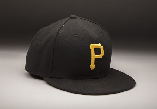 """Gift Ngoepe wore this Pirates cap when he made his major league debut on April 26, 2017. <a href=""""http://collection.baseballhall.org/islandora/object/islandora:538870"""">PASTIME</a> (Milo Stewart Jr. / National Baseball Hall of Fame and Museum)"""