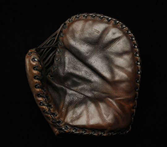 Frank McCormick's first baseman glove that he used in 1940, the year he was named National League MVP. B-161.54