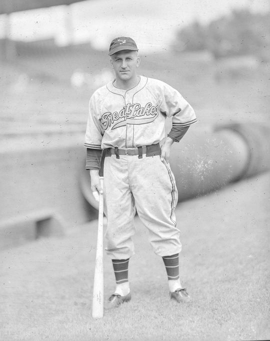 Frankie Pytlak played in the big leagues for 12 seasons, also spending time during World War II as a member of the Great Lakes Bluejackets of the Great Lakes Naval Training Station. (George Burke/National Baseball Hall of Fame and Museum)