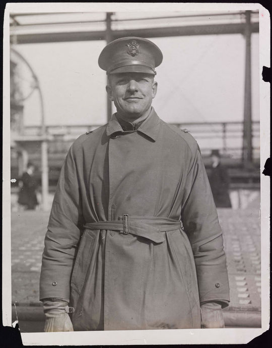 Christy Mathewson returns from the Great War as a Captain and with an ache in his lungs.   BA-PF-Christy-Mathewson-FL-030  (National Baseball Hall of Fame and Museum)