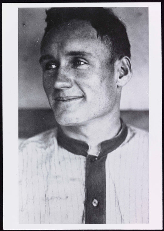 """Walter Johnson.  Harry Harper, who played both with and against him, recalled, """"Oh, what a sweet guy he was.""""  BA-PF-Walter-Johnson-Portrait-013  (National Baseball Hall of Fame and Museum)"""