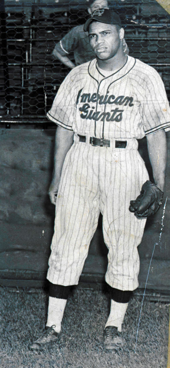 This cropped image shows Pennington as a 17-year old with the Chicago American Giants.  BA-SCR-2-058  (National Baseball Hall of Fame)