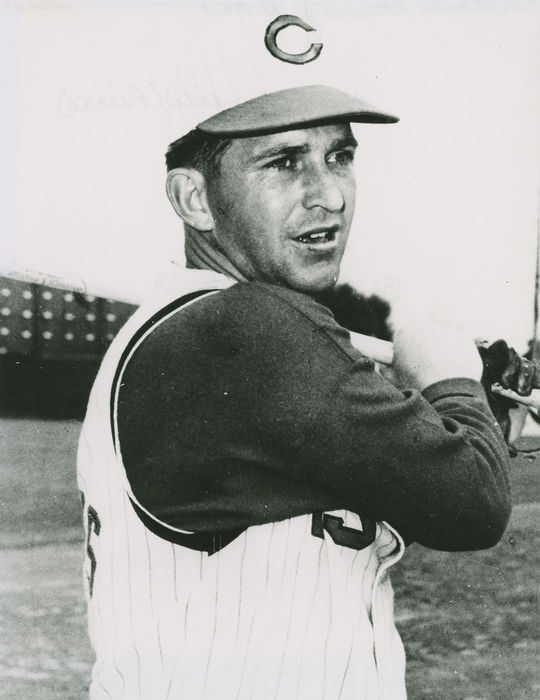 """Although Tommy Helms wasn't a power hitter, his ability to make contact, paired with his strong defense as second base, made him a strong force during the Reds' 1970 postseason run. <a href=""""https://collection.baseballhall.org/PASTIME/tommy-helms-photograph-between-1964-1966"""">PASTIME</a> (National Baseball Hall of Fame and Museum)"""