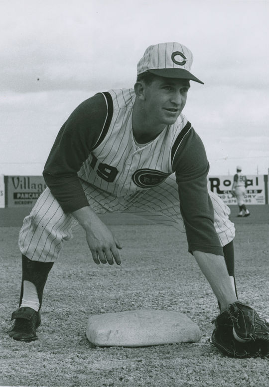 """From 1967 to 1968, Tommy Helms' defense at second base was so strong that he made the National League All-Star team both years. <a href=""""https://collection.baseballhall.org/PASTIME/tommy-helms-photograph-between-1964-1966-1"""">PASTIME</a> (National Baseball Hall of Fame and Museum)"""